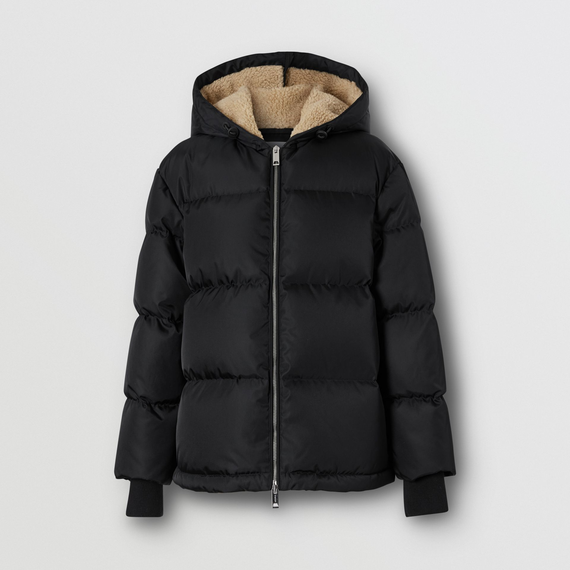 Logo Detail ECONYL® Puffer Jacket in Black - Women | Burberry - gallery image 3