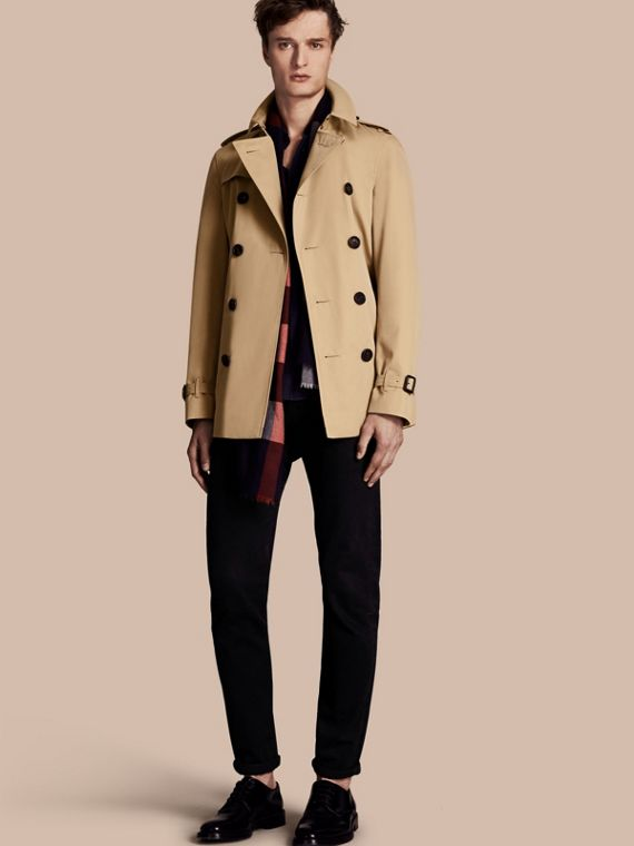 The Chelsea - Trench coat Heritage corto Miele