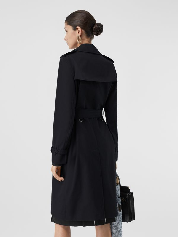 The Long Kensington Heritage Trench Coat in Midnight - Women | Burberry - cell image 2