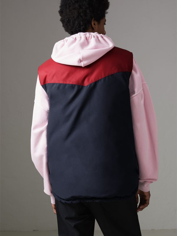 Colour Block Reversible Gilet in Navy - Men | Burberry - cell image 2