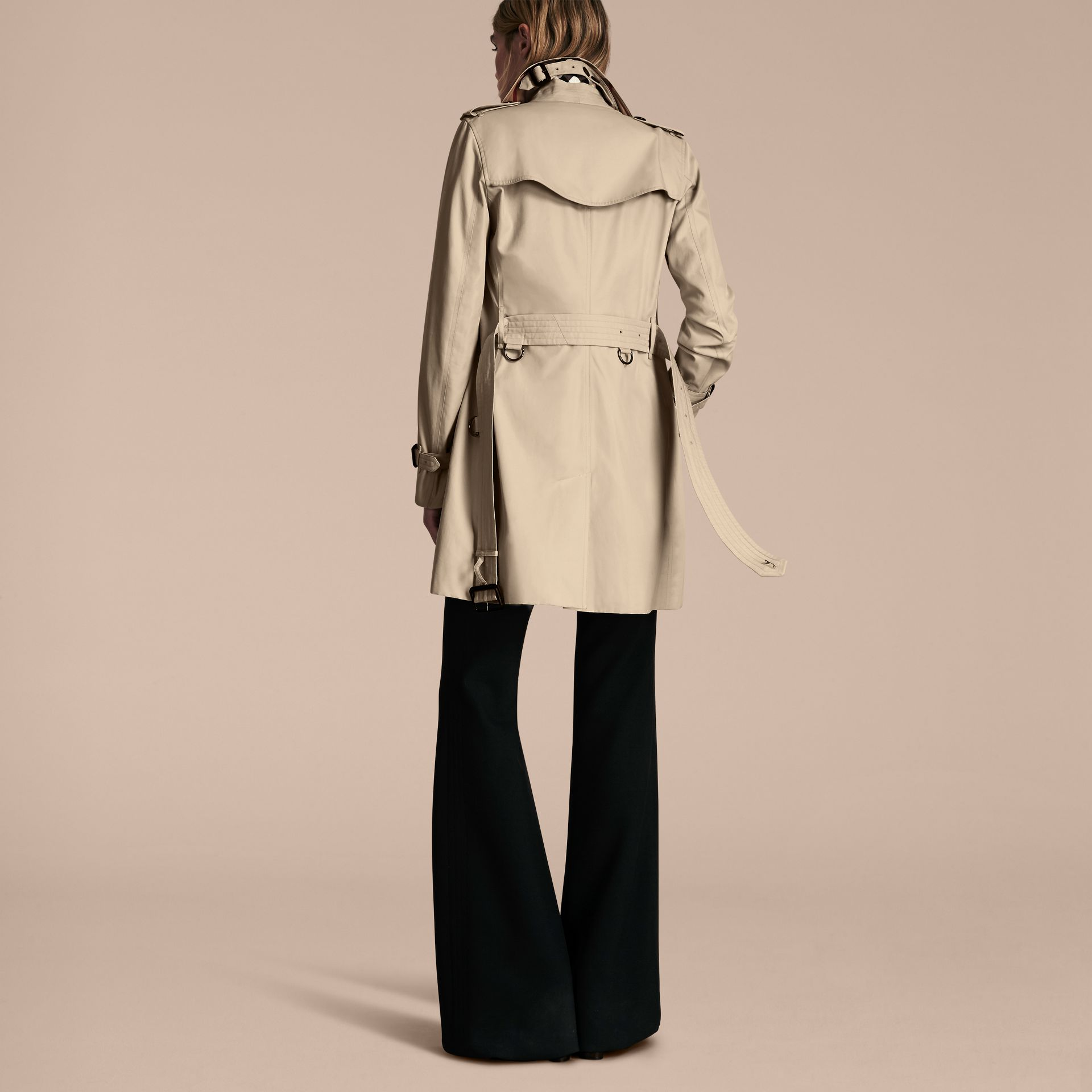 Stone The Kensington – Mid-Length Heritage Trench Coat Stone - gallery image 3