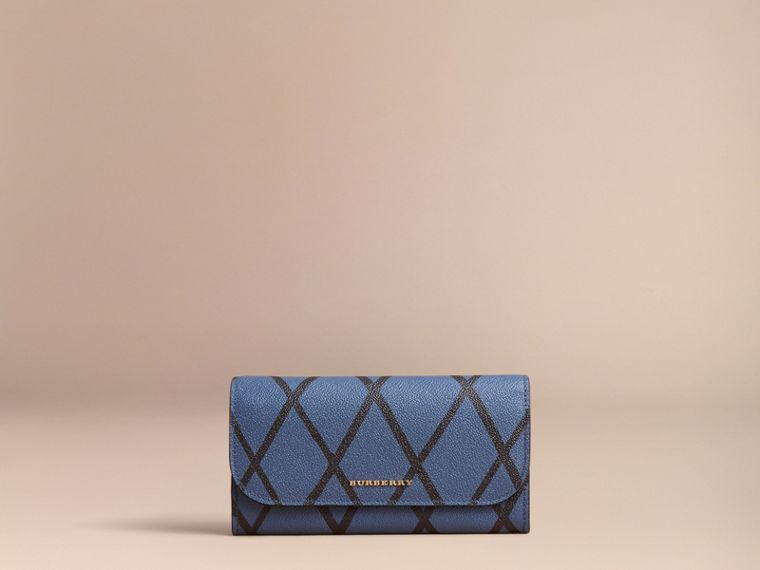 Trompe L'oeil Print Leather Continental Wallet - Women | Burberry - cell image 4