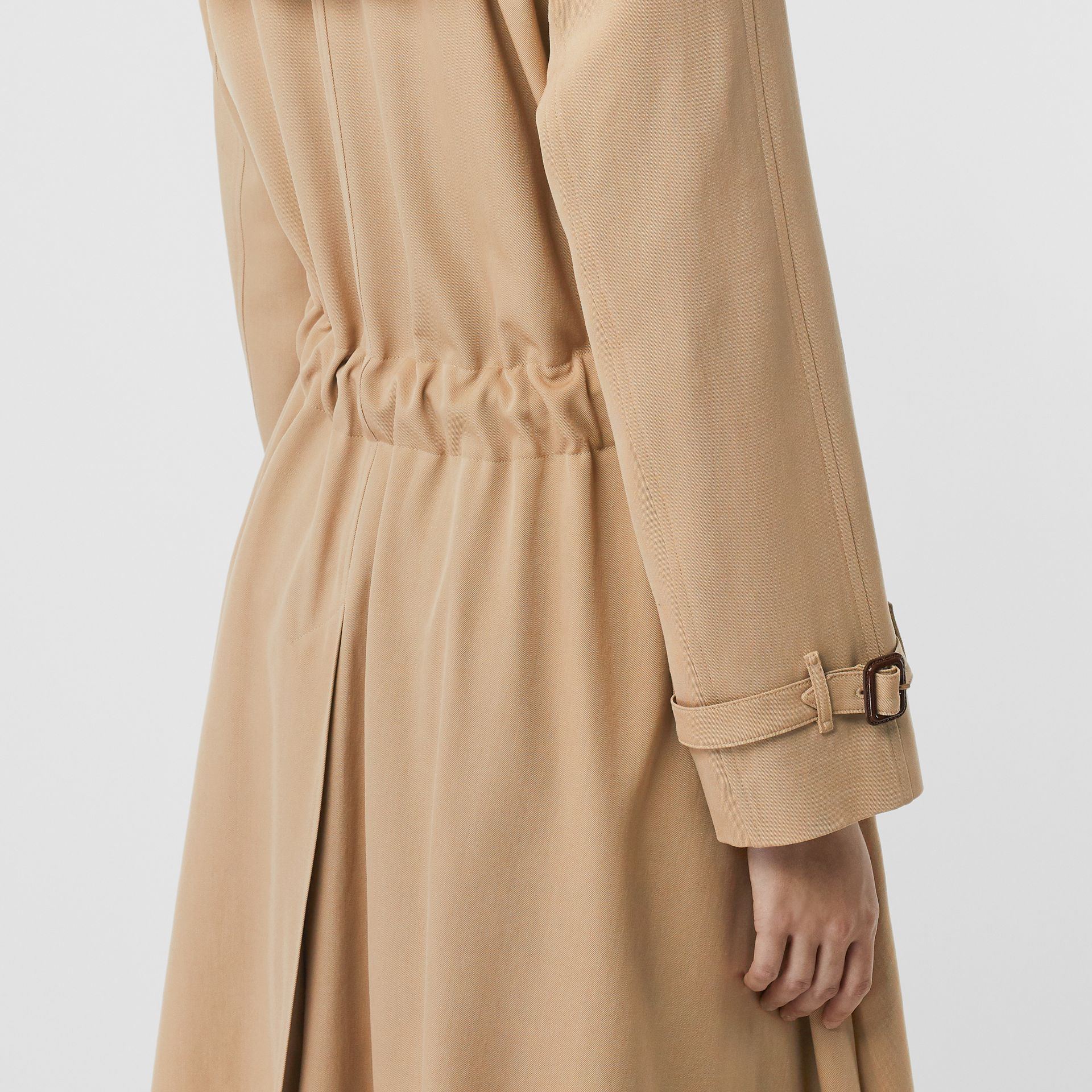 Wool Gabardine Trench Coat in Honey - Women | Burberry United Kingdom - gallery image 5