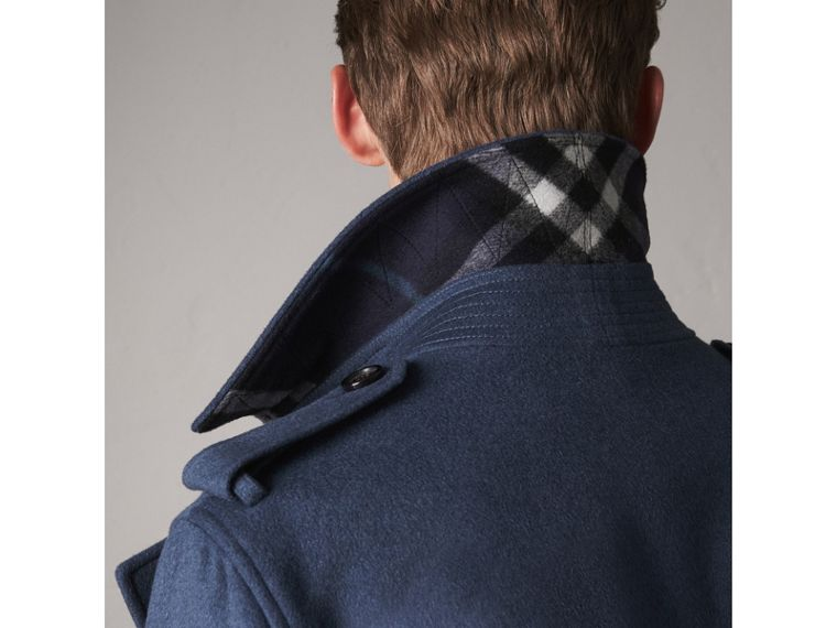 Wool Cashmere Trench Coat in Dark Canvas Blue - Men | Burberry United Kingdom - cell image 4