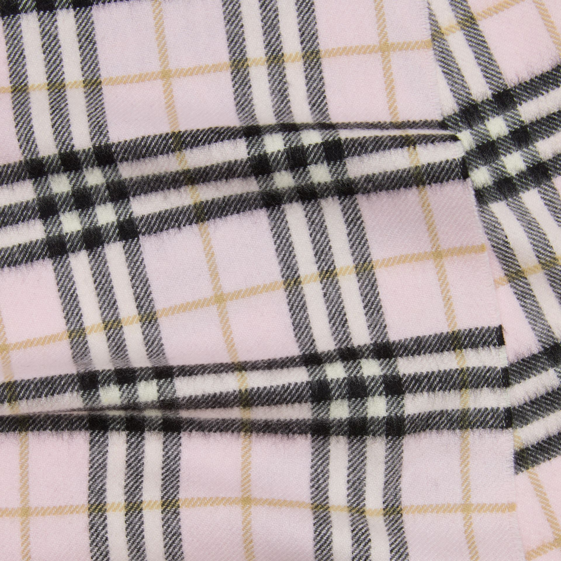 The Mini Classic Vintage Check Cashmere Scarf in Alabaster - Children | Burberry United Kingdom - gallery image 1