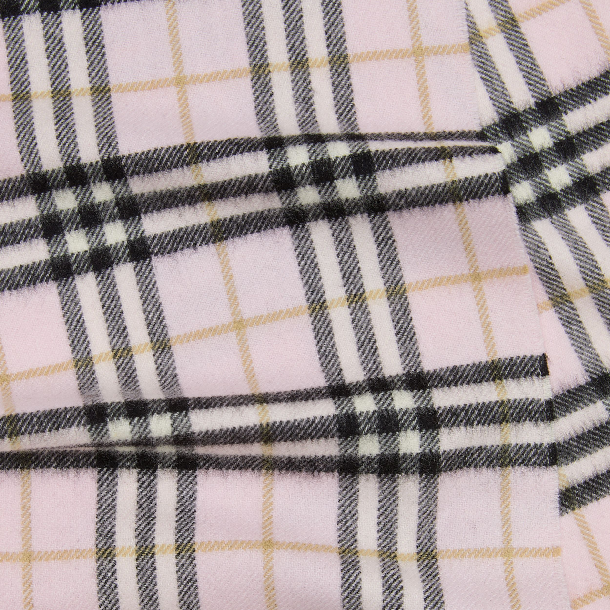 The Mini Classic Vintage Check Cashmere Scarf in Alabaster - Children | Burberry - 2