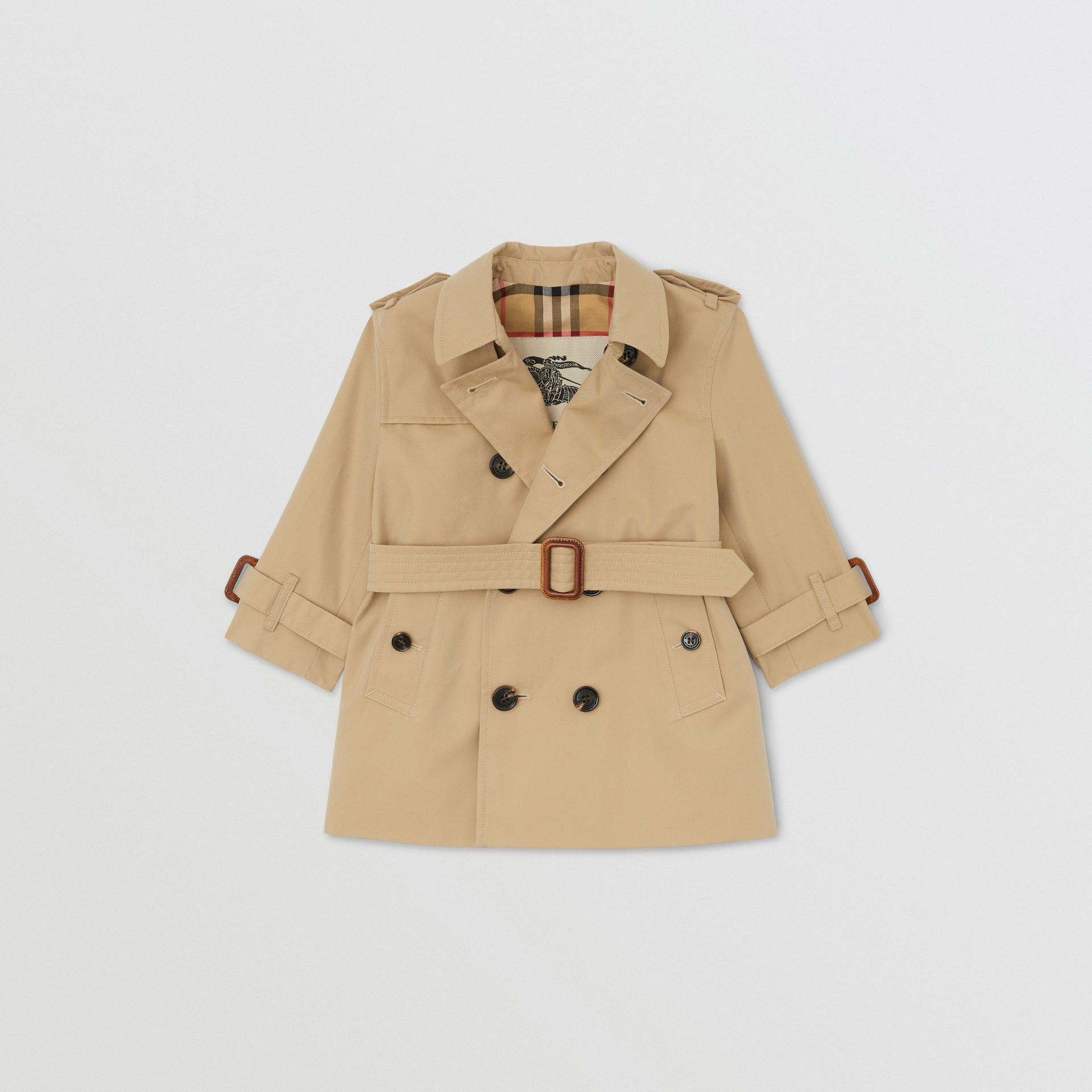 Trench en gabardine de coton (Miel) - Enfant | Burberry - photo de la galerie 0