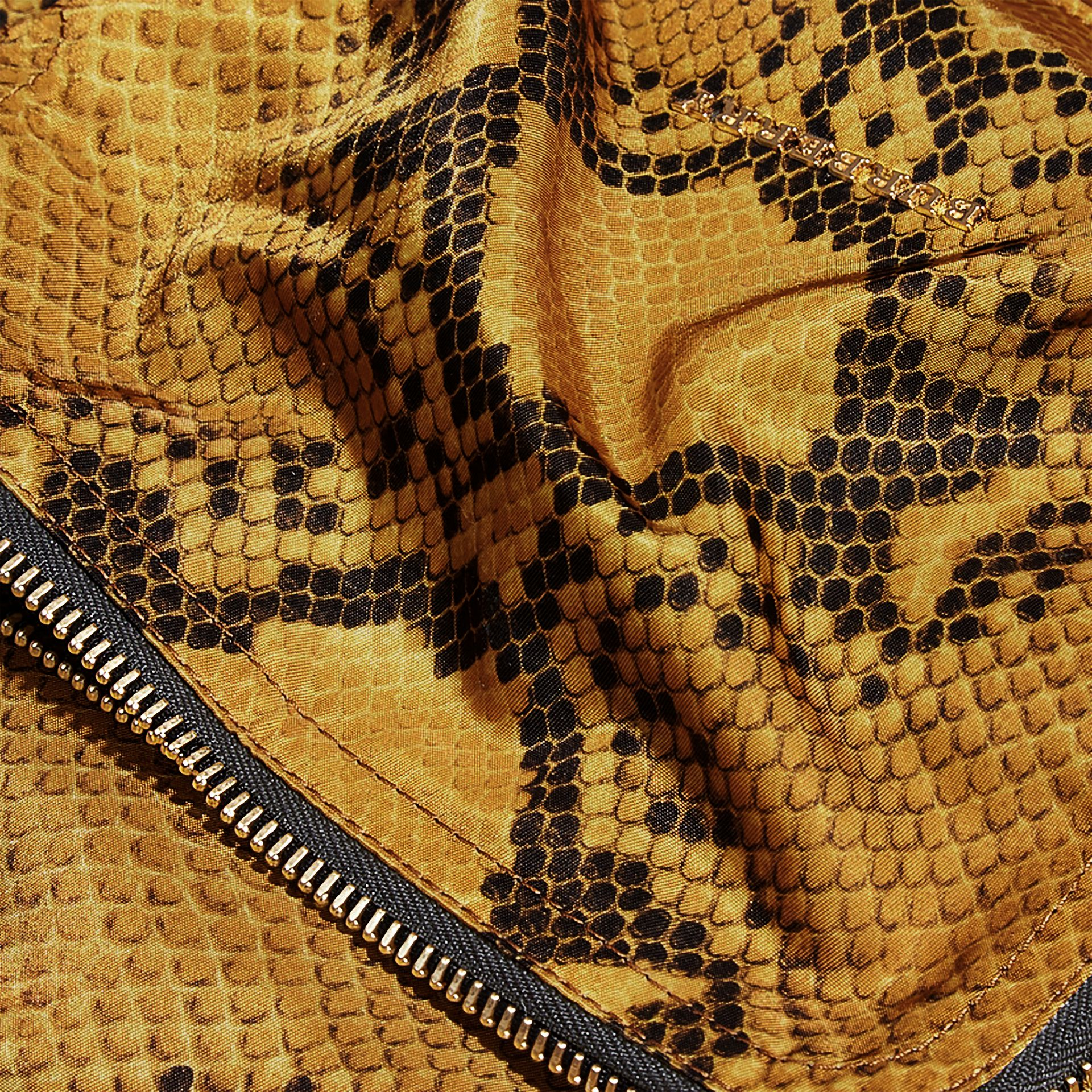 The Large Rucksack in Python Print Nylon and Leather in Yellow - gallery image 5
