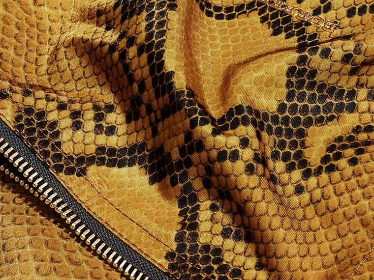 Yellow The Large Rucksack in Python Print Nylon and Leather Yellow - cell image 4