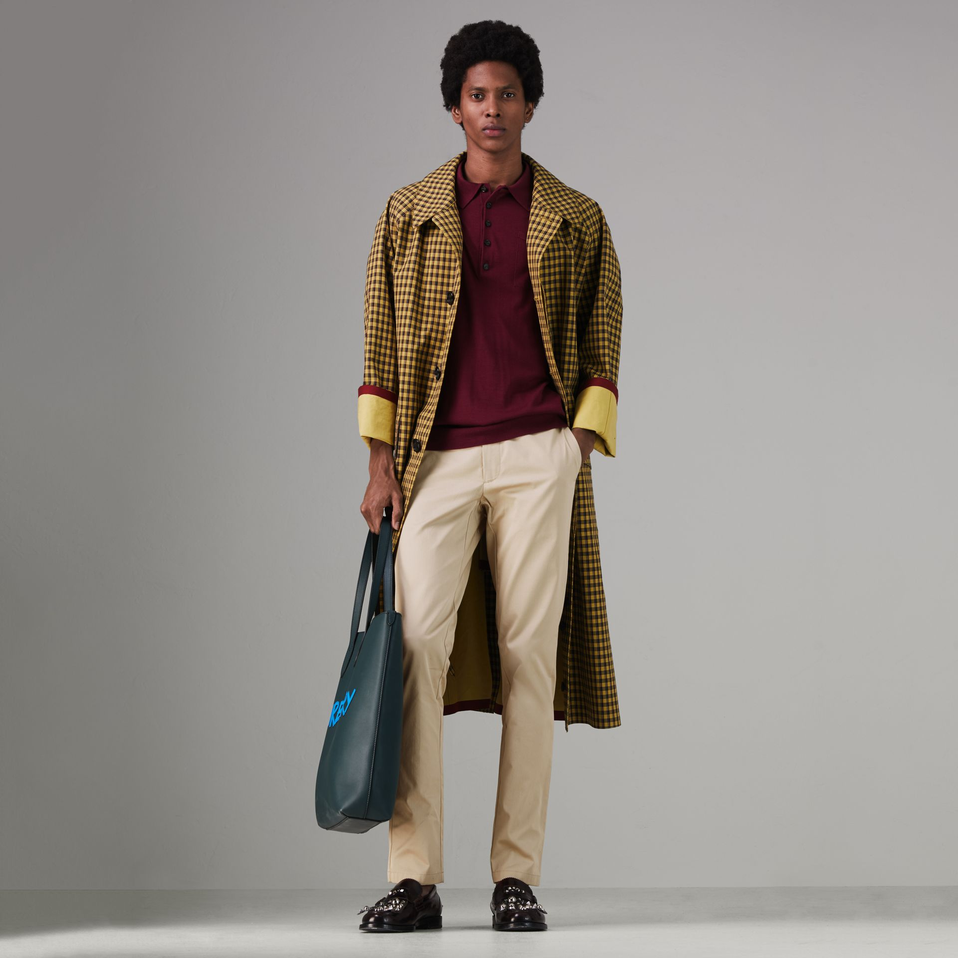 Slim Fit Cotton Chinos in Stone - Men | Burberry - gallery image 0
