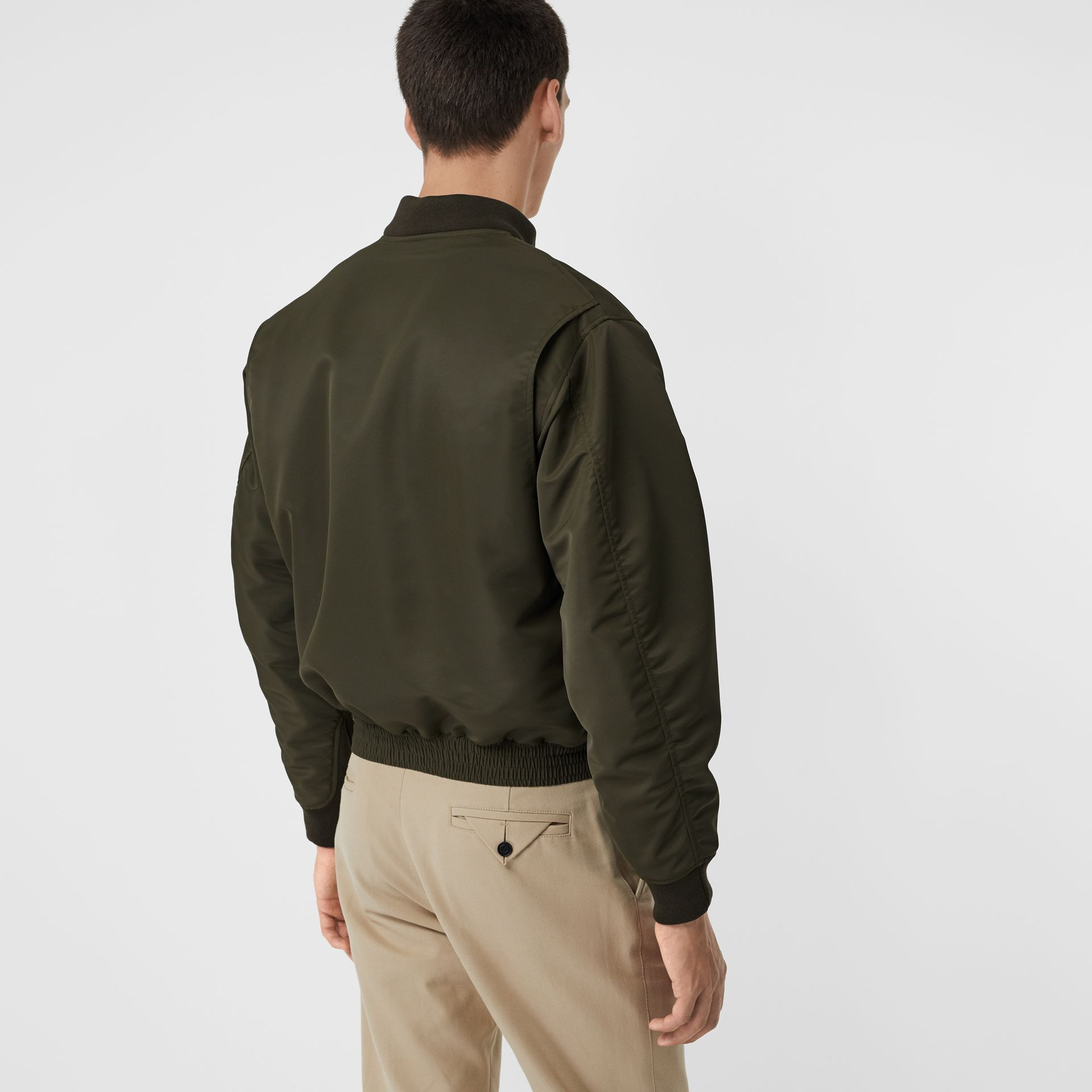 Padded Nylon Bomber Jacket in Dark Olive - Men | Burberry - gallery image 2