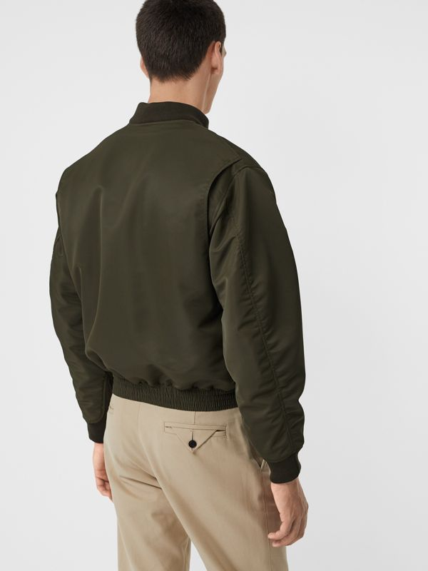 Padded Nylon Bomber Jacket in Dark Olive - Men | Burberry Australia - cell image 2