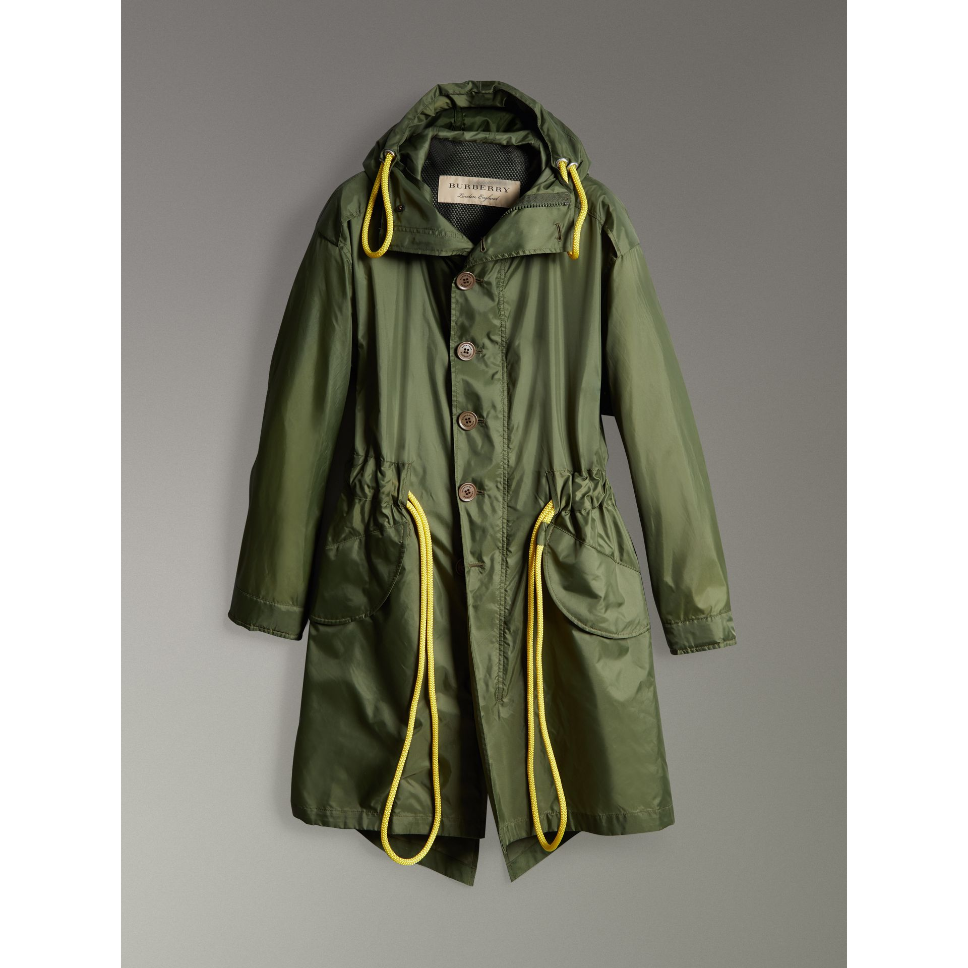 Oversized Technical Parka in Light Olive - Men | Burberry - gallery image 3