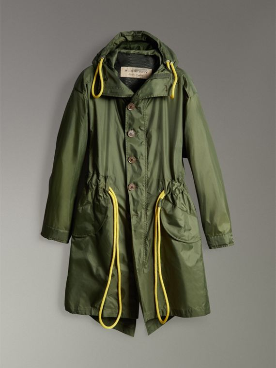 Oversized Technical Parka in Light Olive - Men | Burberry - cell image 3