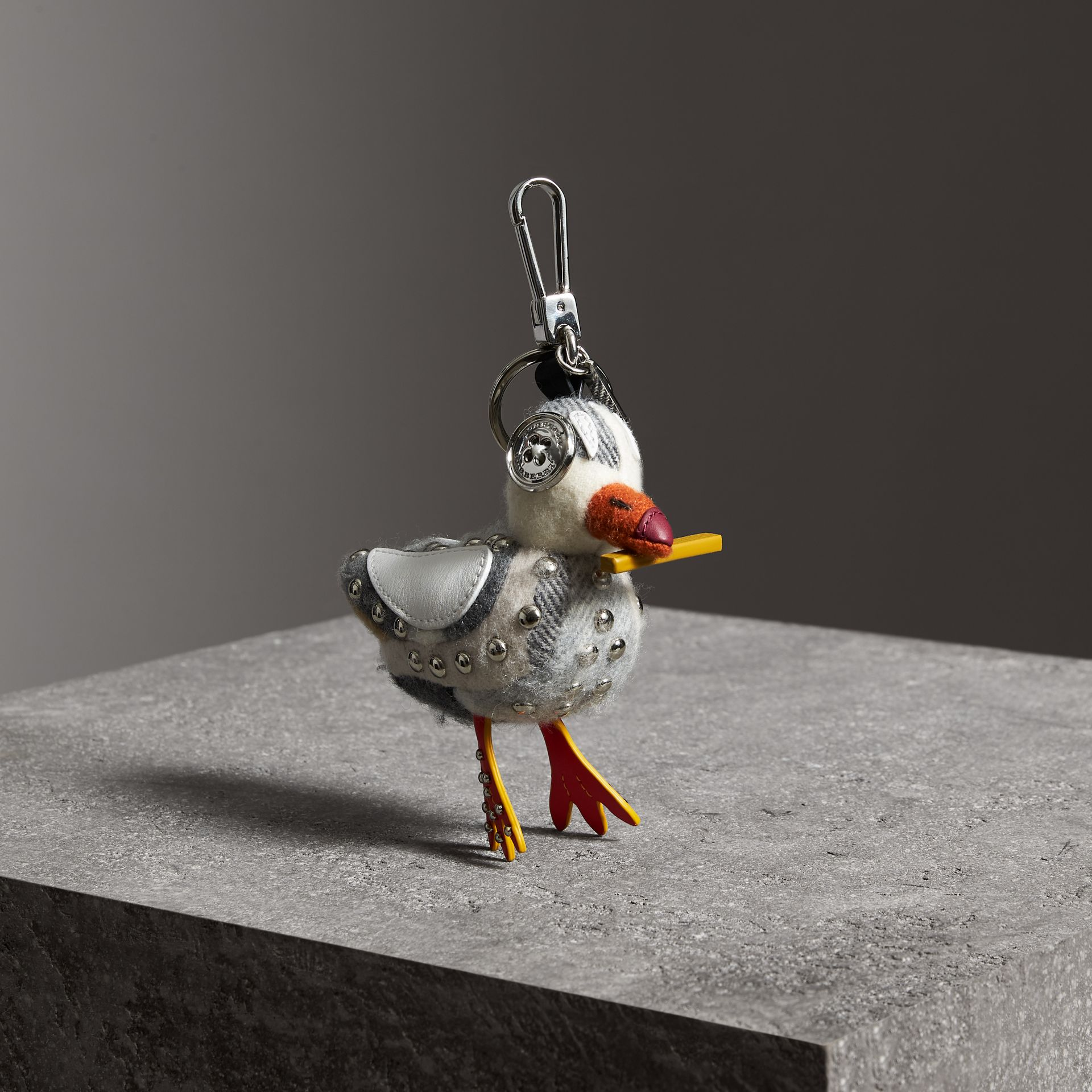 Lawrence The Seagull Cashmere Charm in White Multicolour | Burberry - gallery image 0