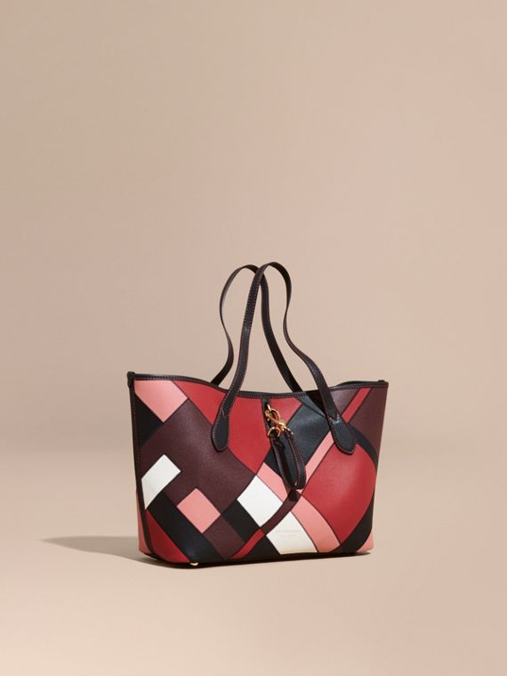 Medium Patchwork Grainy Leather Tote Bag