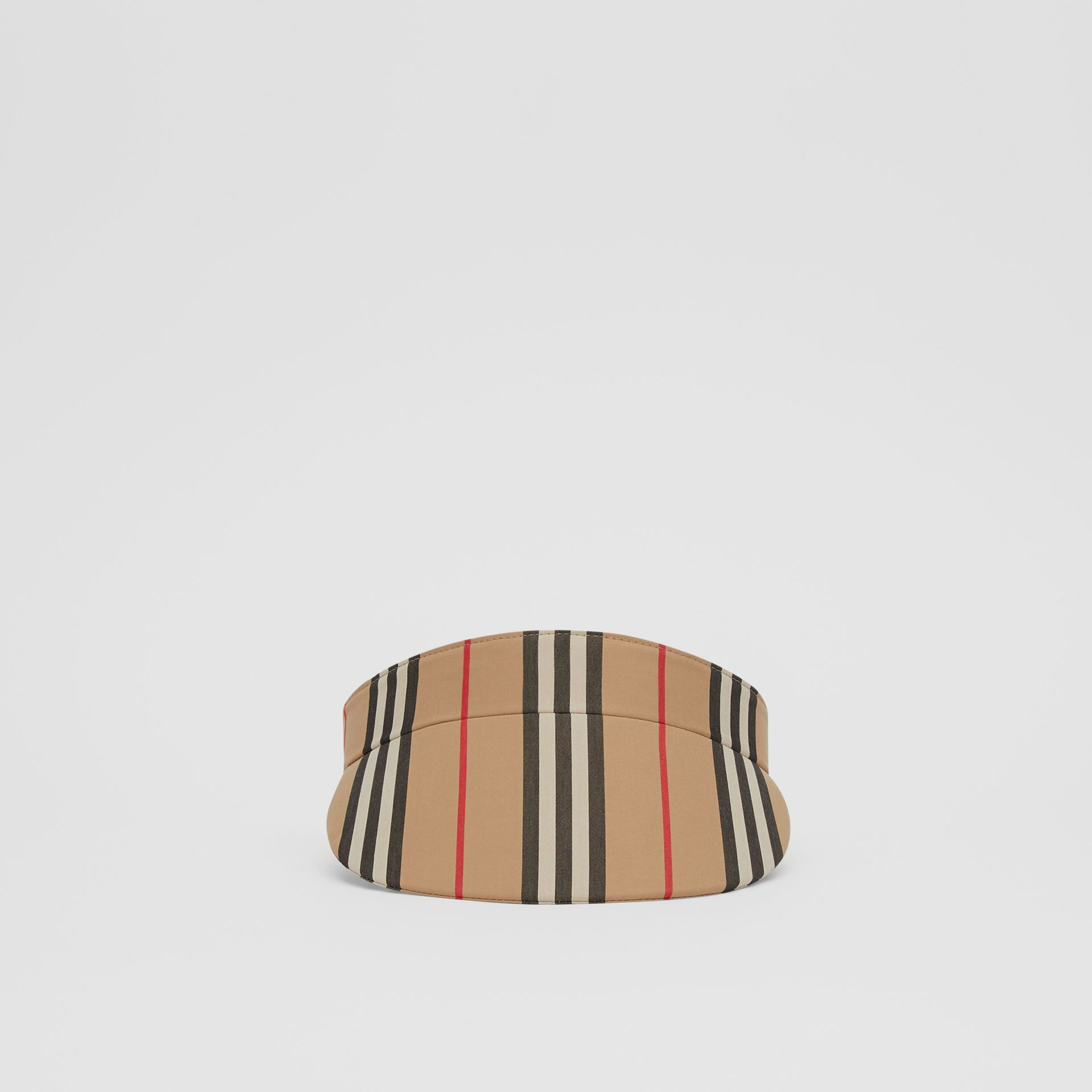 Icon Stripe Visor in Archive Beige | Burberry United Kingdom - gallery image 3