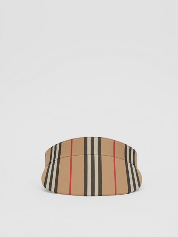 Icon Stripe Visor in Archive Beige