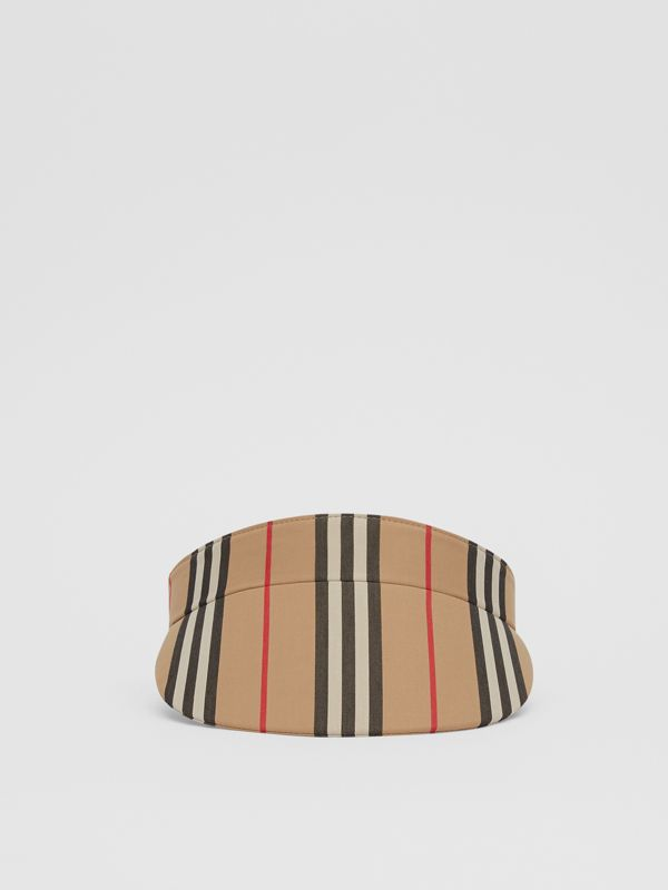 Icon Stripe Visor in Archive Beige | Burberry Hong Kong S.A.R - cell image 3