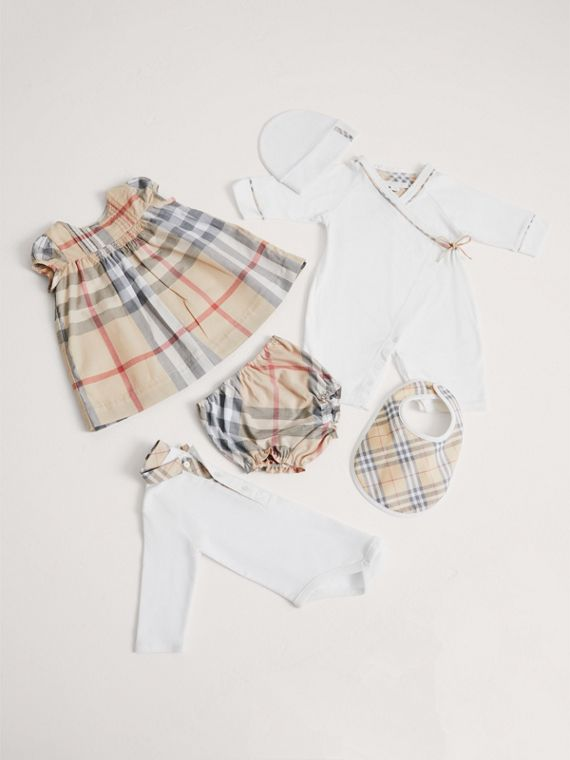 Cotton Six-piece Baby Gift Set in White