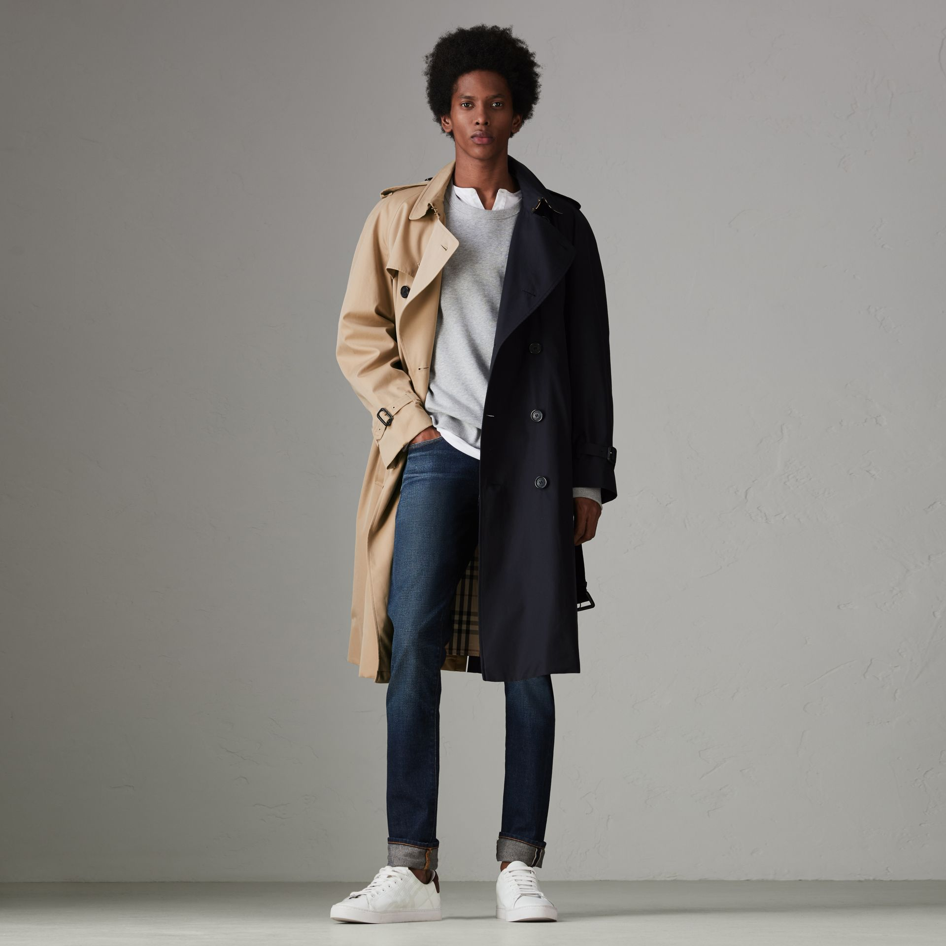 Gosha x Burberry Two-tone Trench Coat in Honey - Men | Burberry United States - gallery image 8