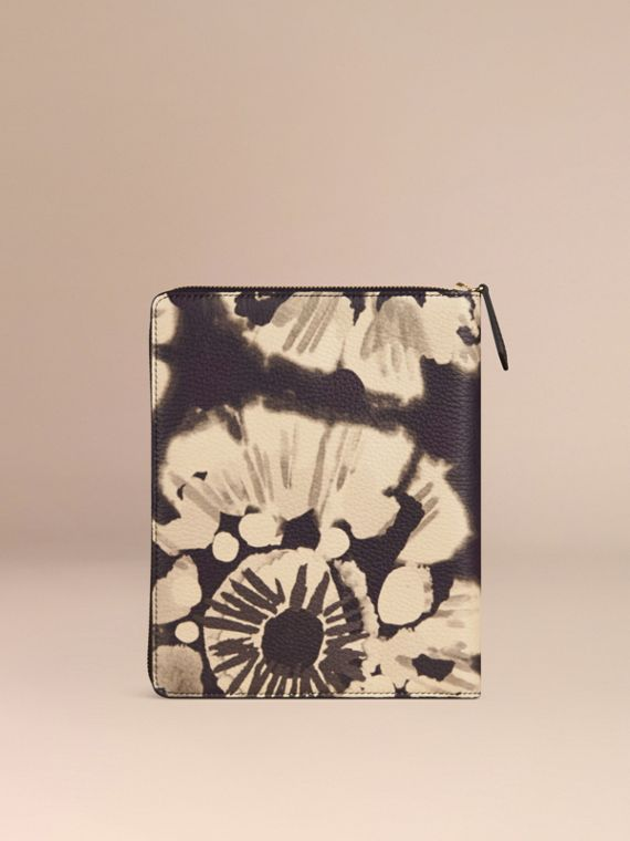 Stone Ziparound Tie-dye Print Grainy Leather A5 Notebook Stone - cell image 3