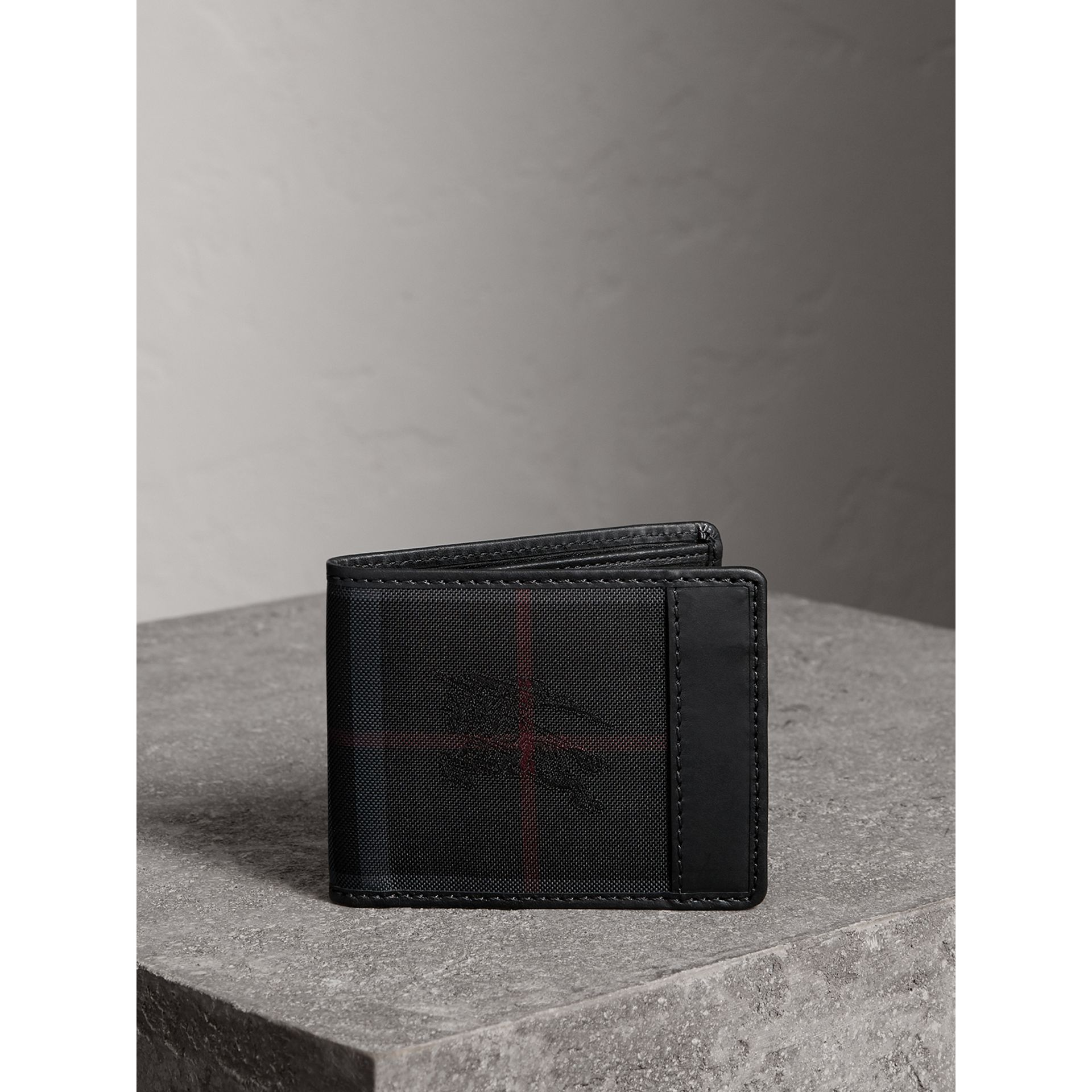 Horseferry Check Wallet in Charcoal/black - Men | Burberry - gallery image 5