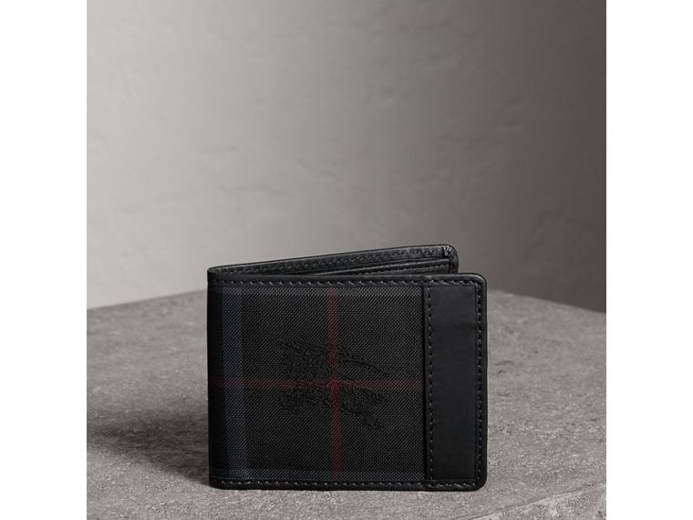 Horseferry Check Wallet in Charcoal/black - Men | Burberry - cell image 4