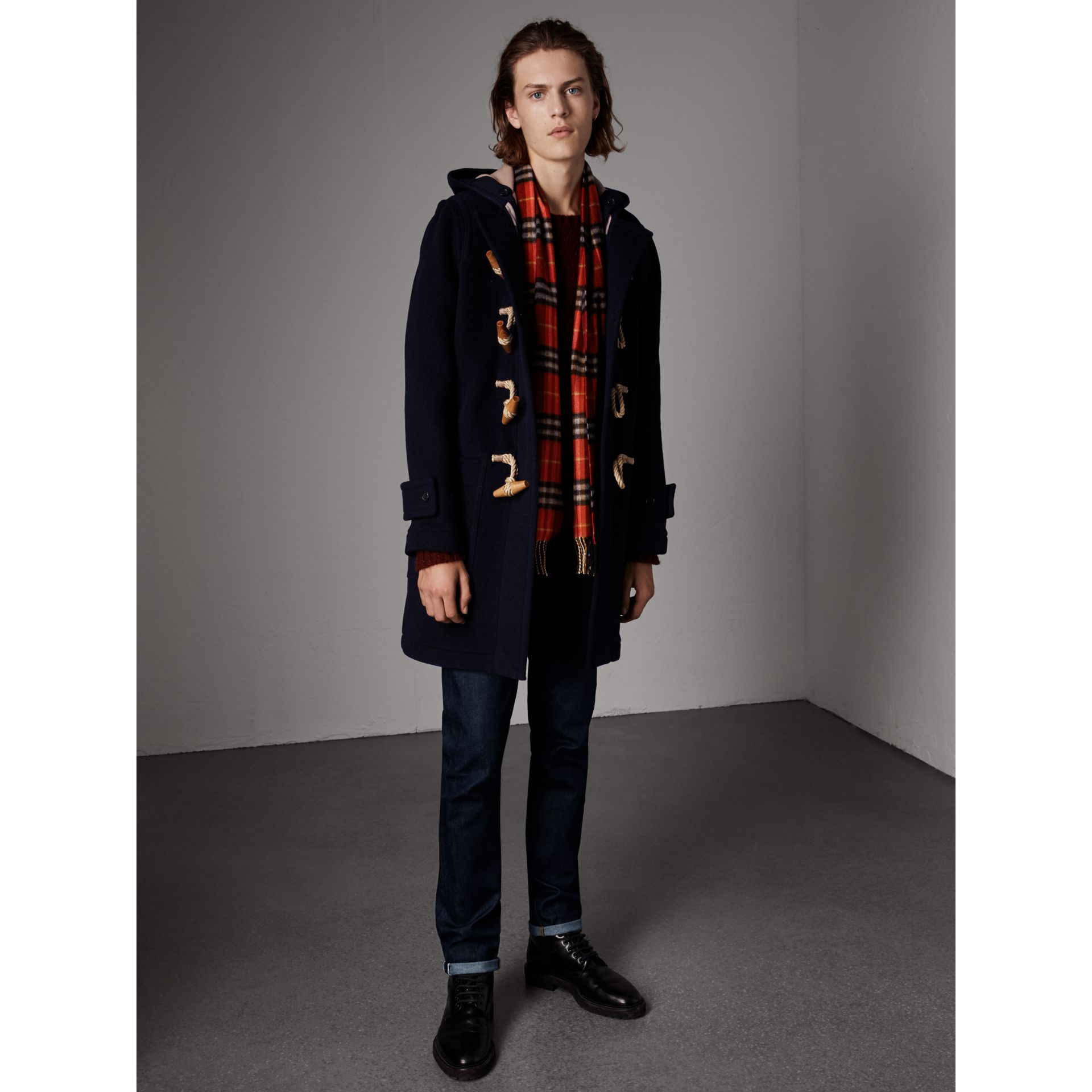 The Greenwich Duffle Coat in Navy - Men | Burberry Singapore - gallery image 6