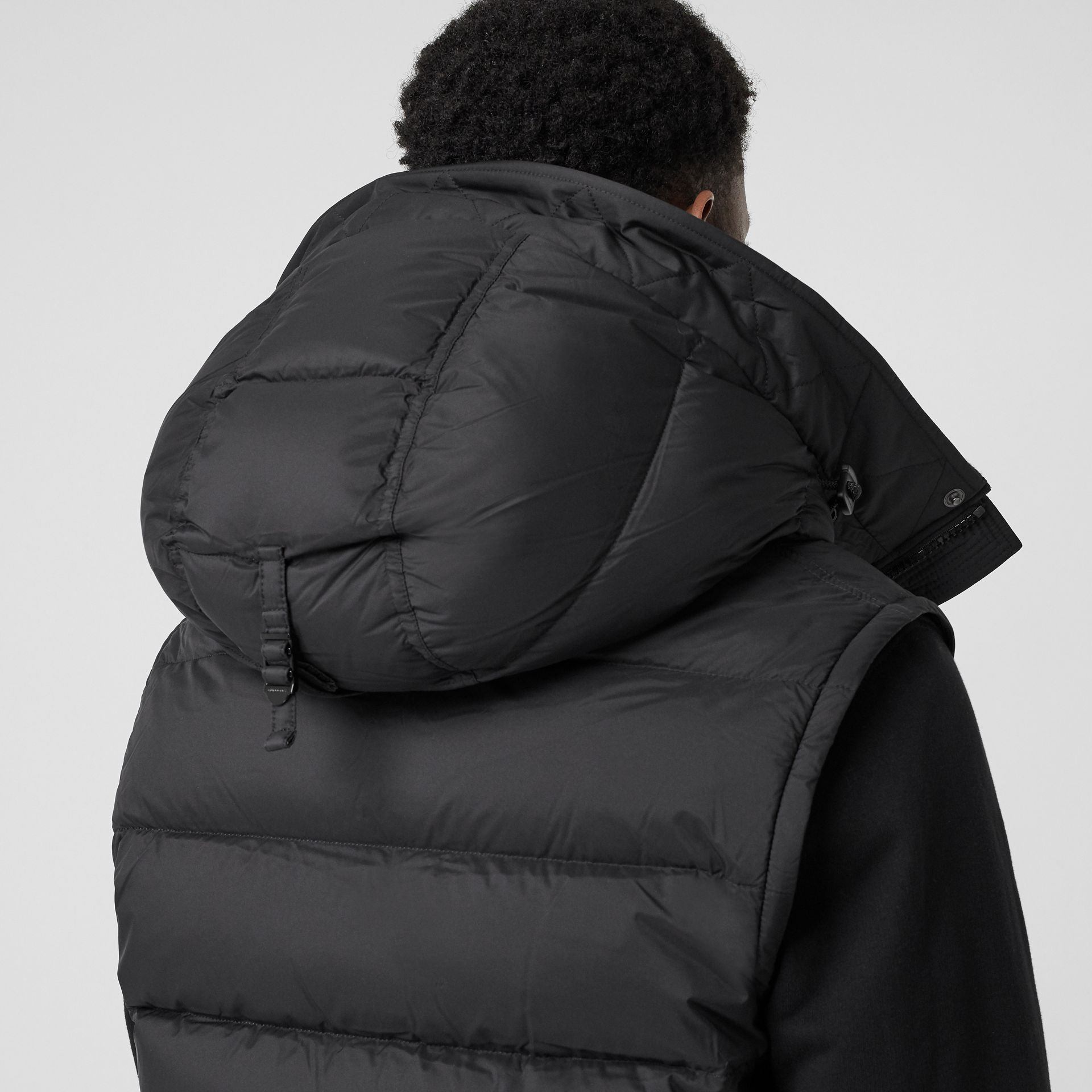 Detachable-sleeve Down-filled Hooded Puffer Jacket in Black - Men | Burberry United States - gallery image 4