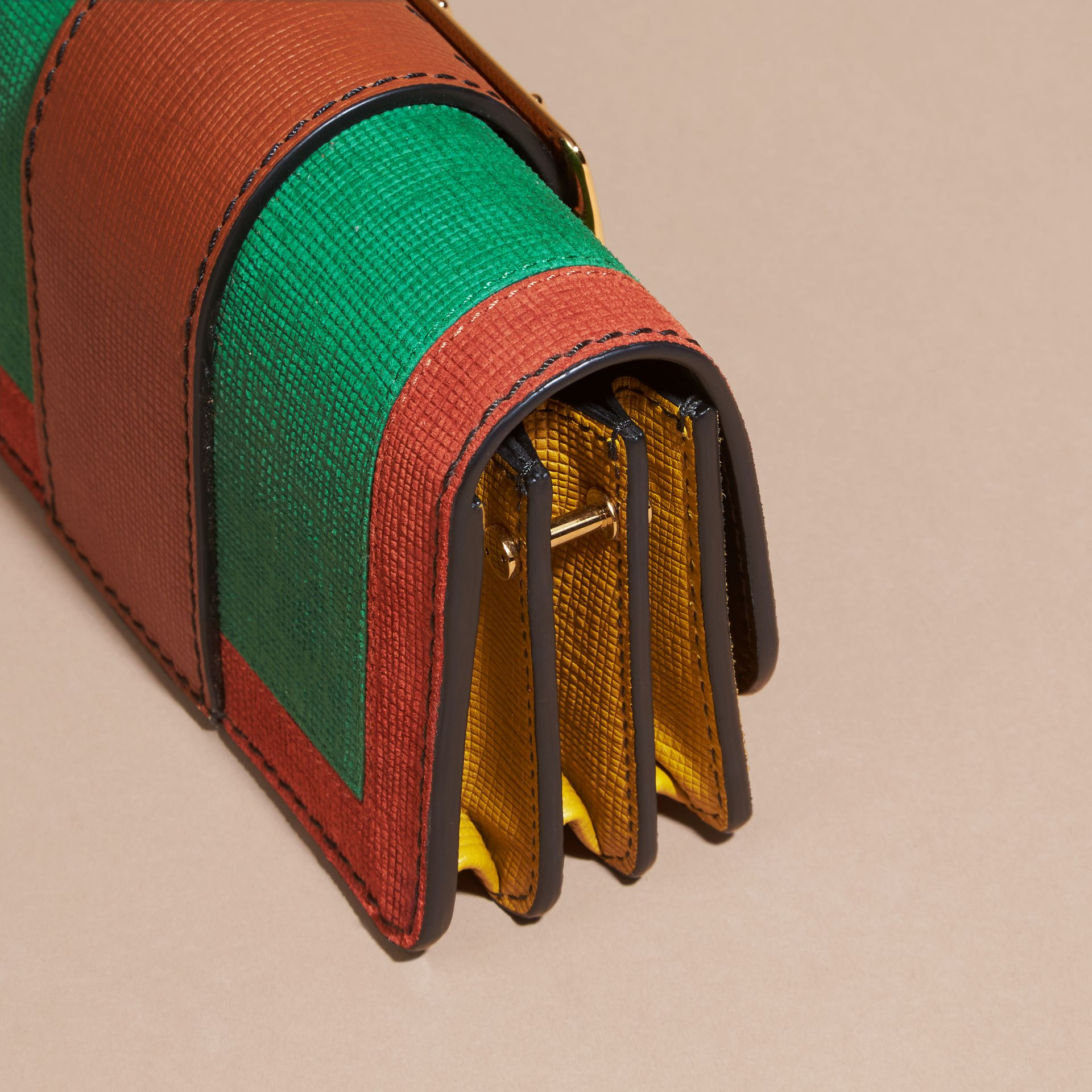 The Small Buckle Bag in Textured Leather in Bright Green - gallery image 2