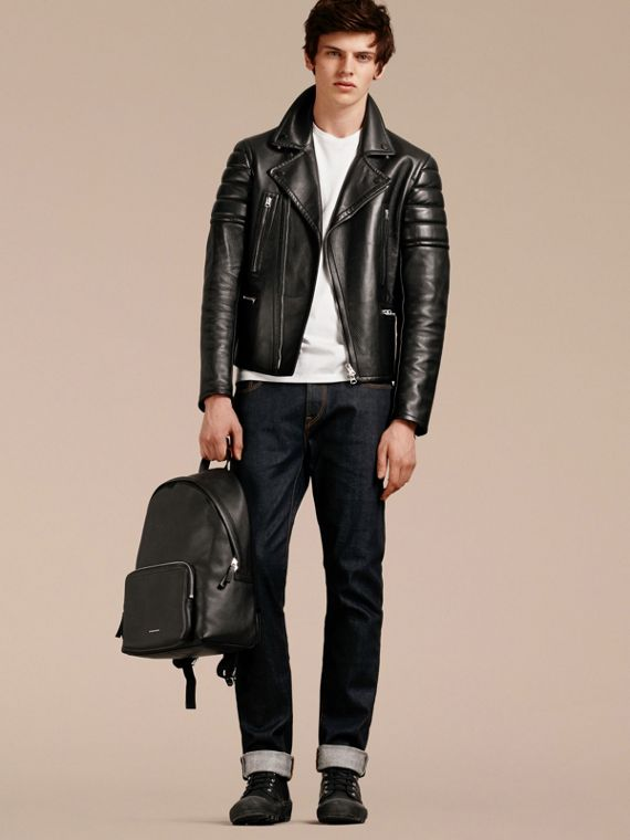 Grainy Leather Backpack - Men | Burberry Australia - cell image 2