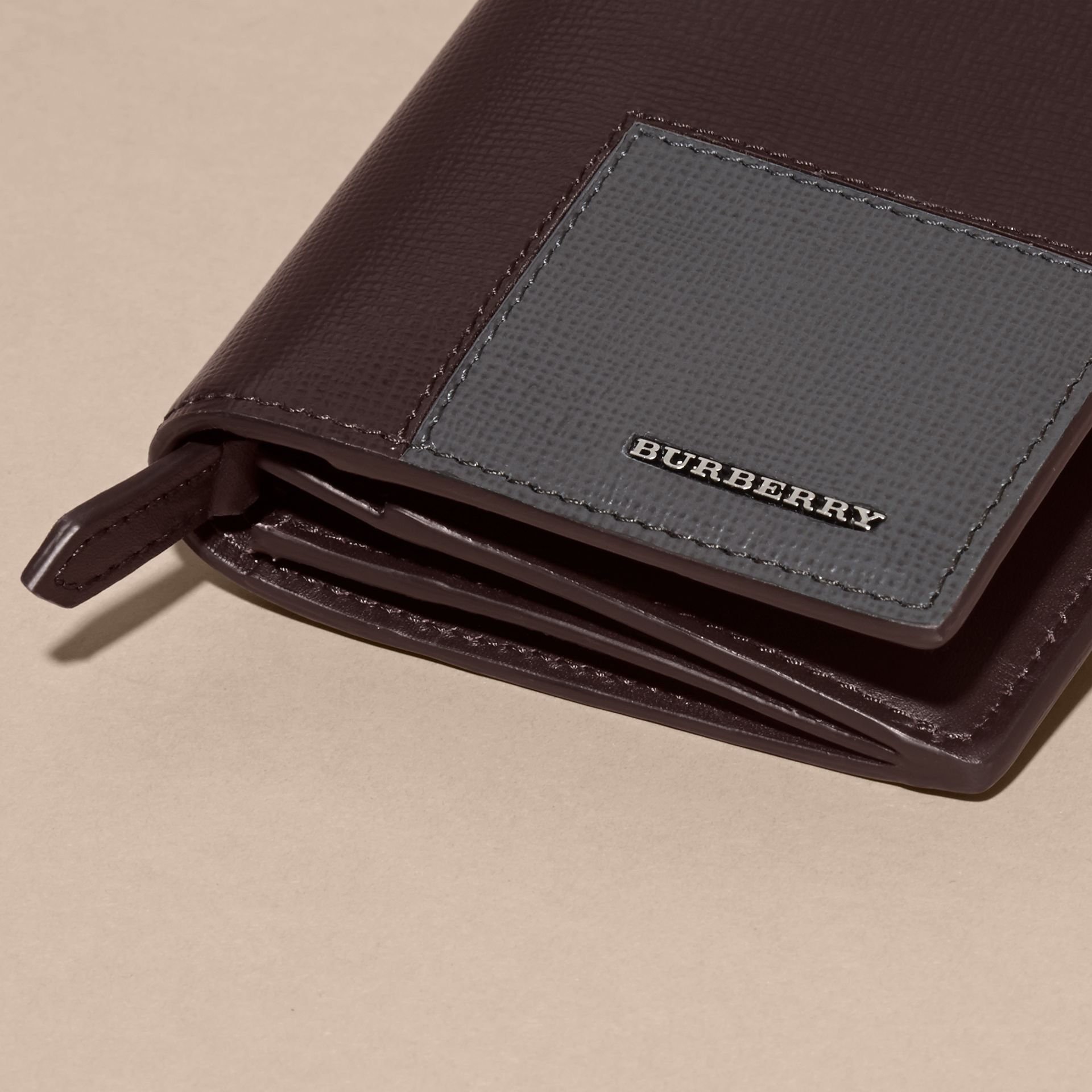 Wine Patchwork London Leather Continental Wallet Wine - gallery image 2