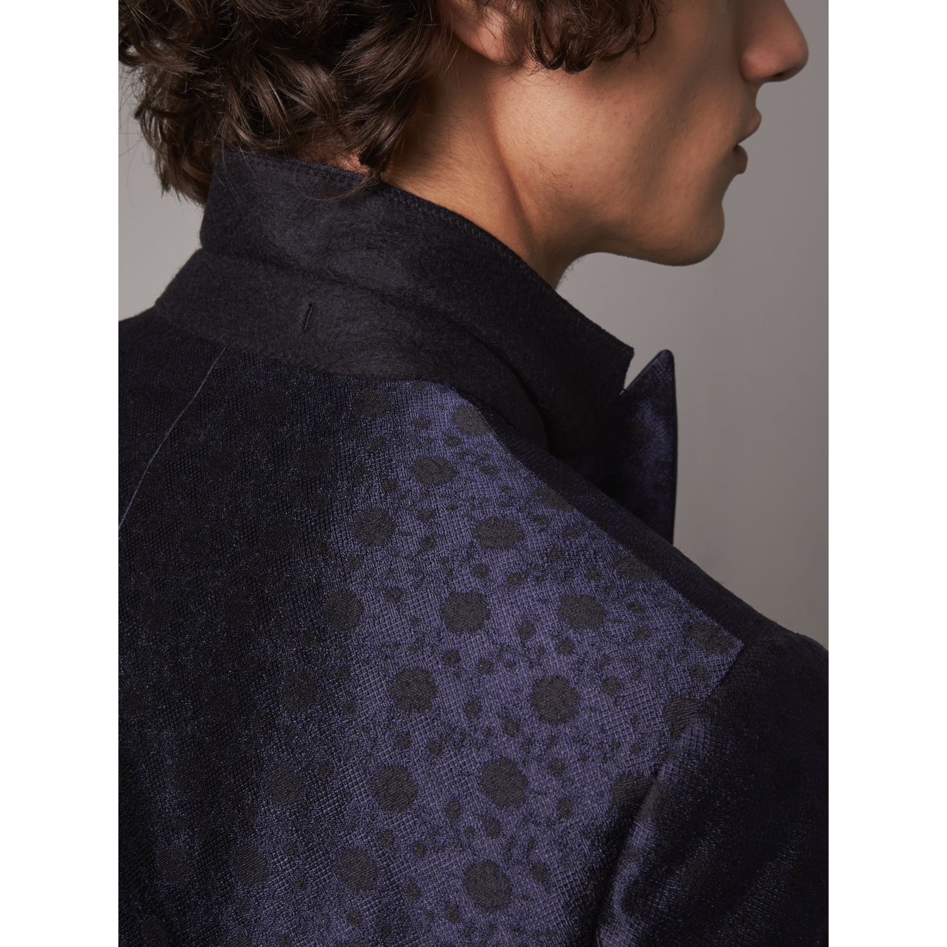 Soho Fit Silk Wool Jacquard Evening Jacket in Navy - Men | Burberry - gallery image 6