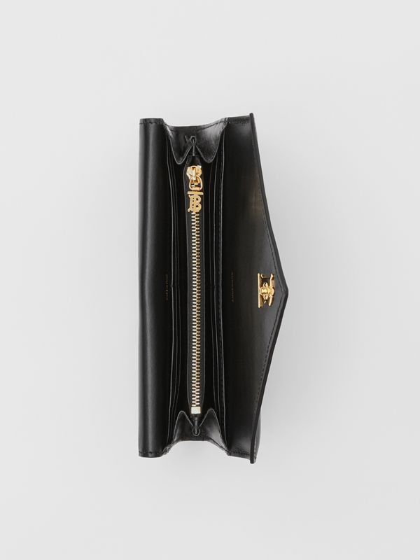 Monogram Motif Quilted Continental Wallet in Black - Women | Burberry United Kingdom - cell image 3