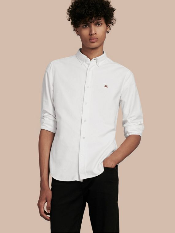 Cotton Oxford Shirt White