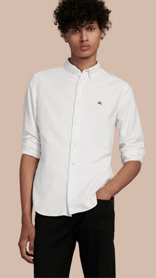 Camicia Oxford in cotone