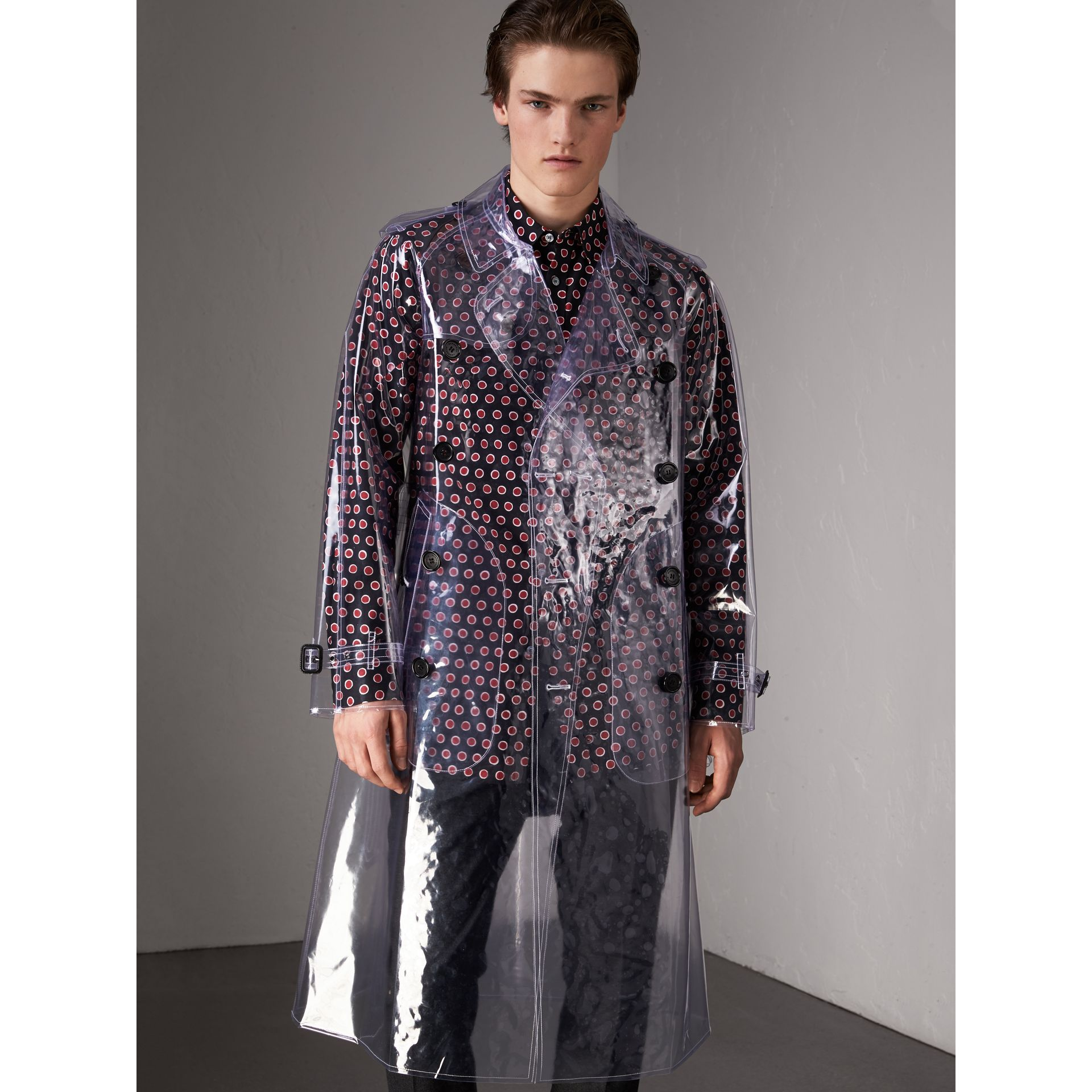 Plastic Trench Coat in Crystal - Men | Burberry - gallery image 6