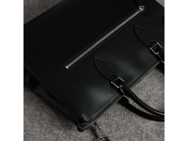 Large London Leather Briefcase in Black - Men | Burberry - cell image 4