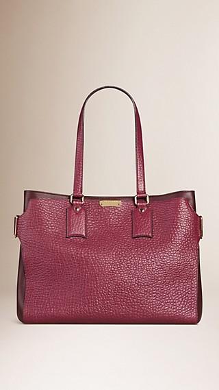 Large Signature Grain Leather Tote Bag