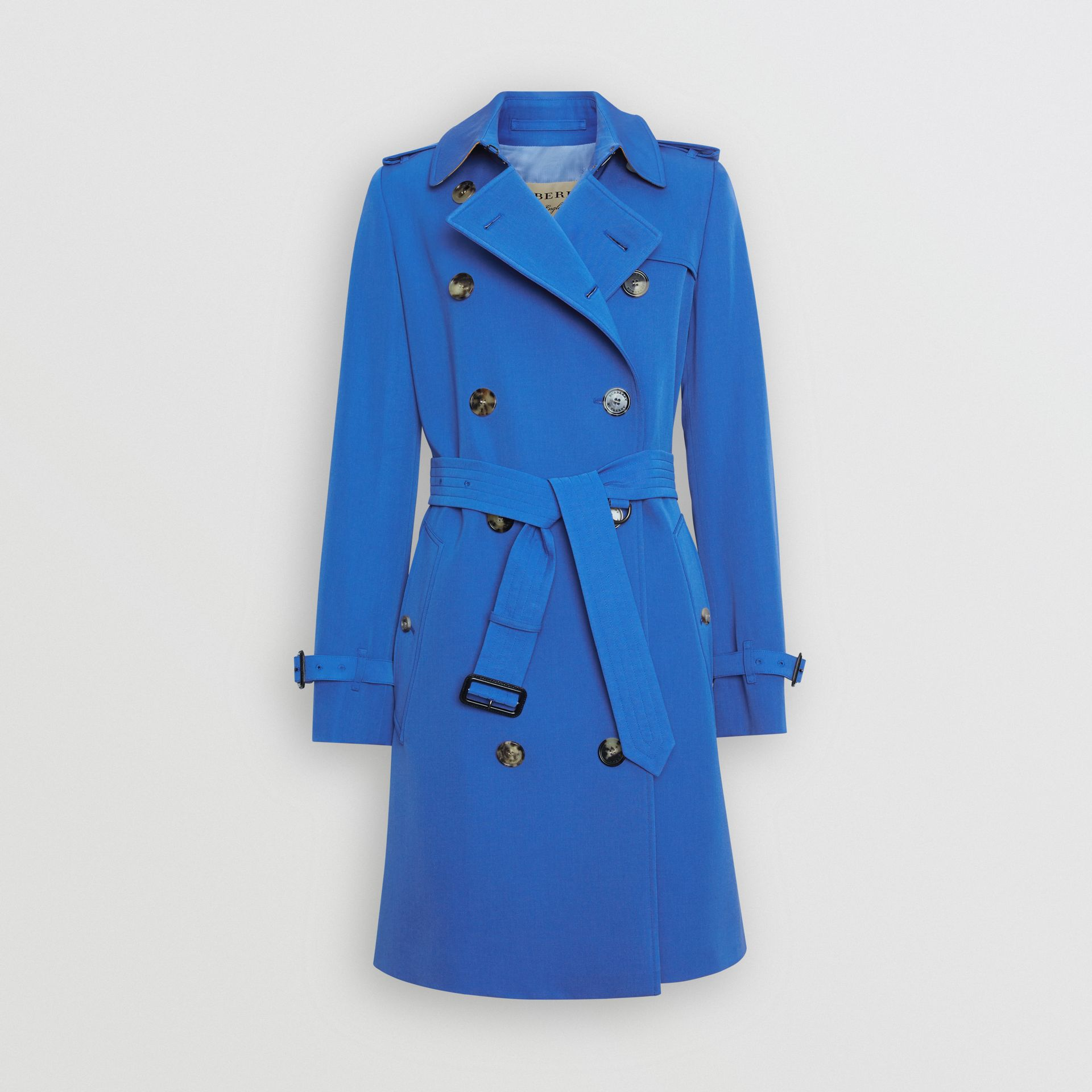 Wool Gabardine Trench Coat in Sky Blue - Women | Burberry - gallery image 3