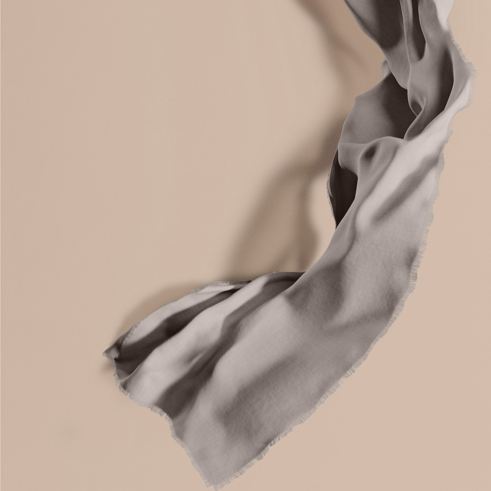 The Lightweight Cashmere Scarf in Pale Grey - gallery image 1