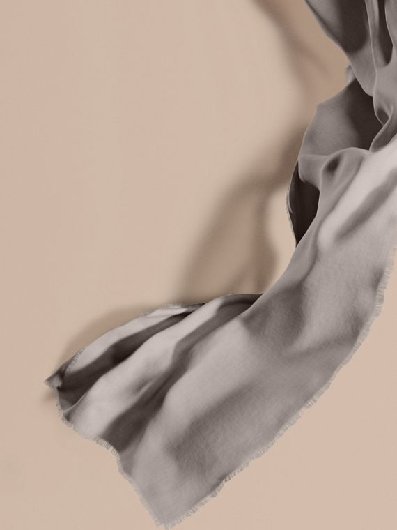 The Lightweight Cashmere Scarf in Pale Grey | Burberry Canada