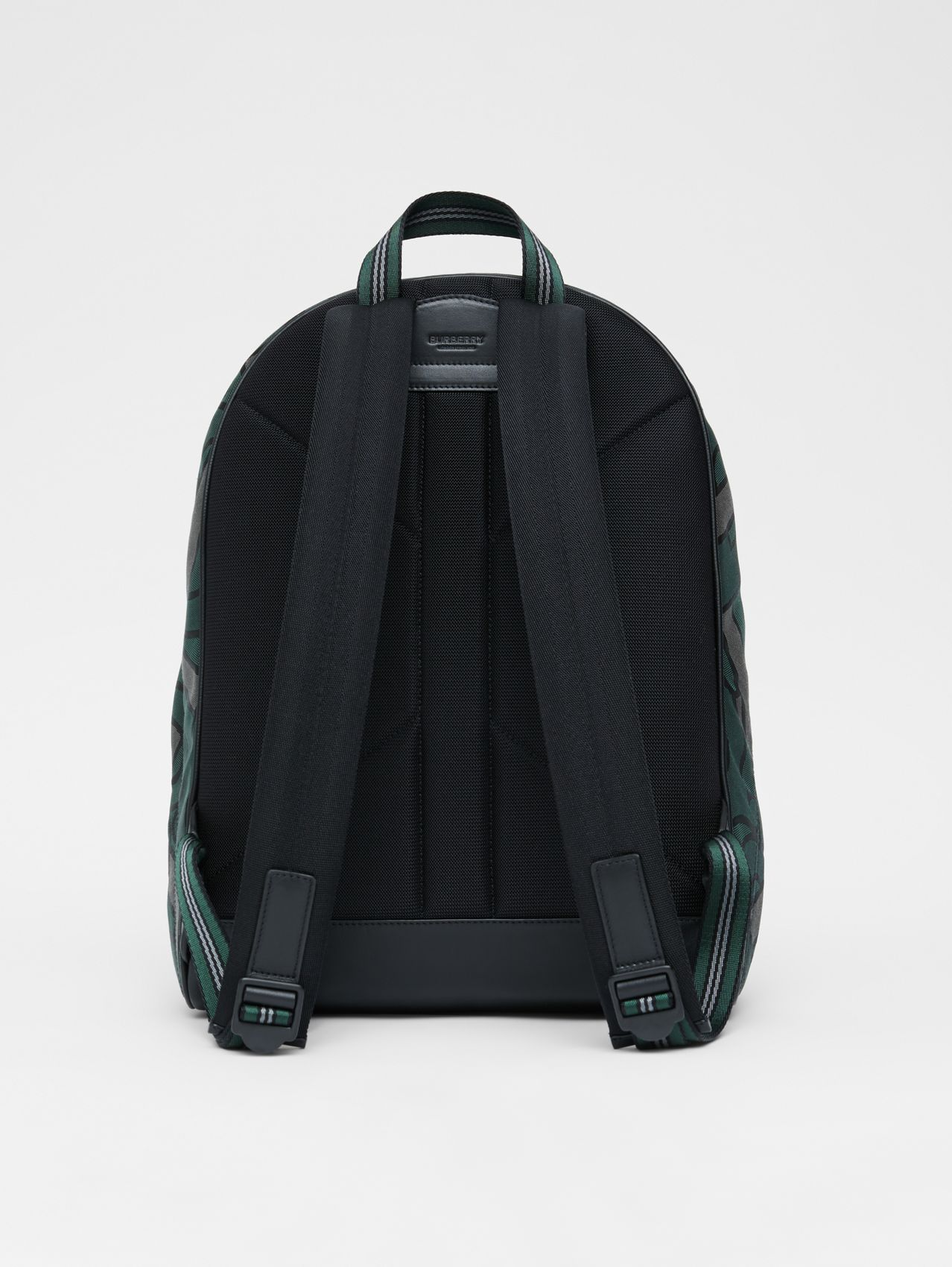 Monogram Recycled Polyester Jacquard Backpack in Forest Green