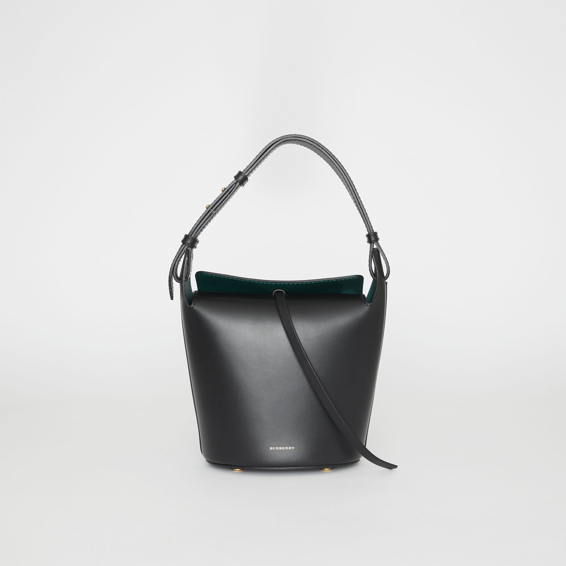 The Small Leather Bucket Bag in Black - Women | Burberry United Kingdom - gallery image 0