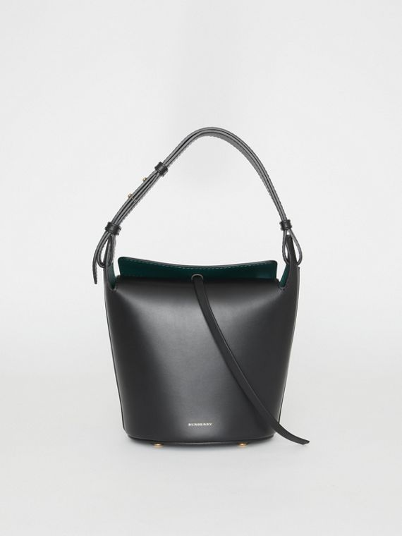 The Small Leather Bucket Bag in Black
