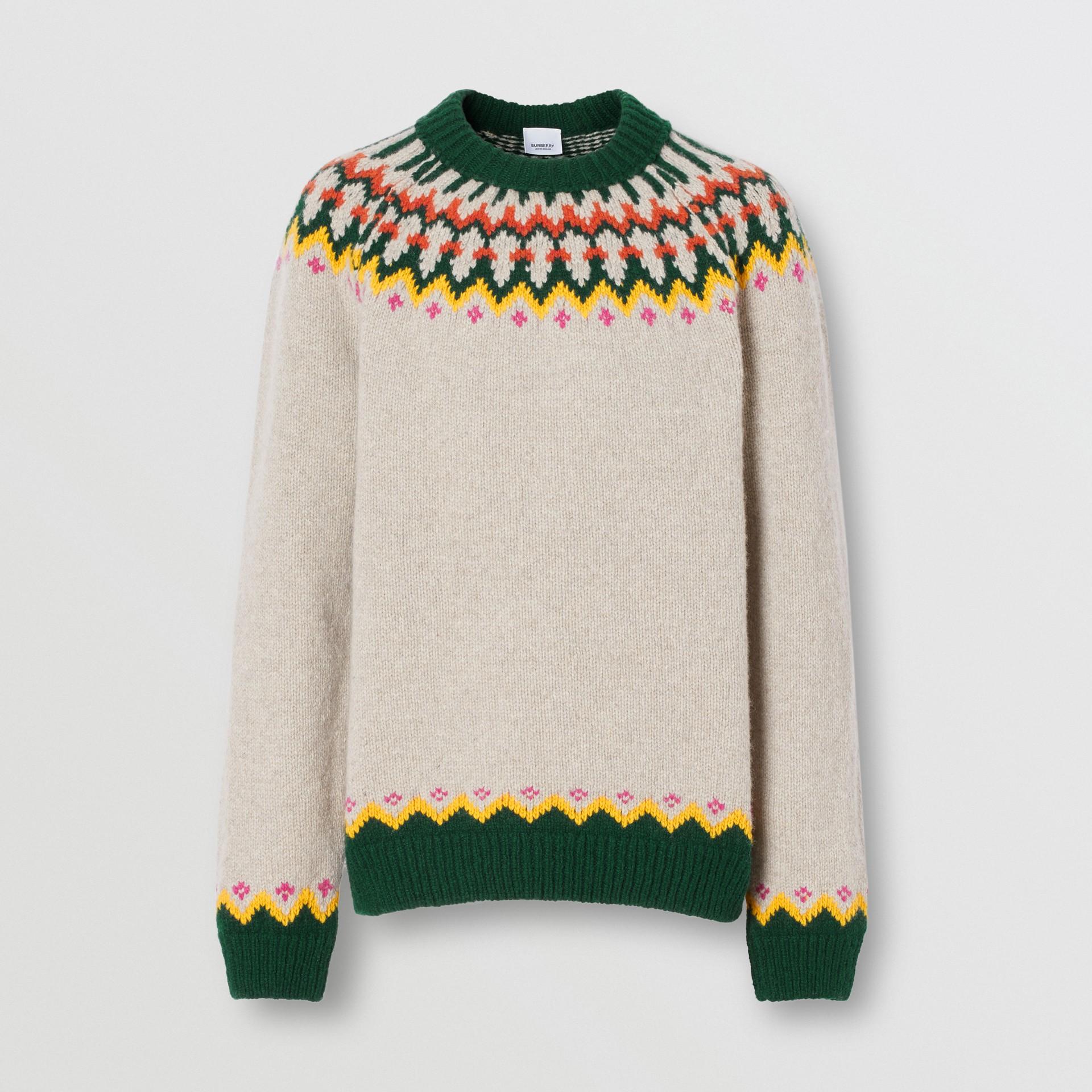 Fair Isle Wool Sweater in Sesame - Men | Burberry - gallery image 3