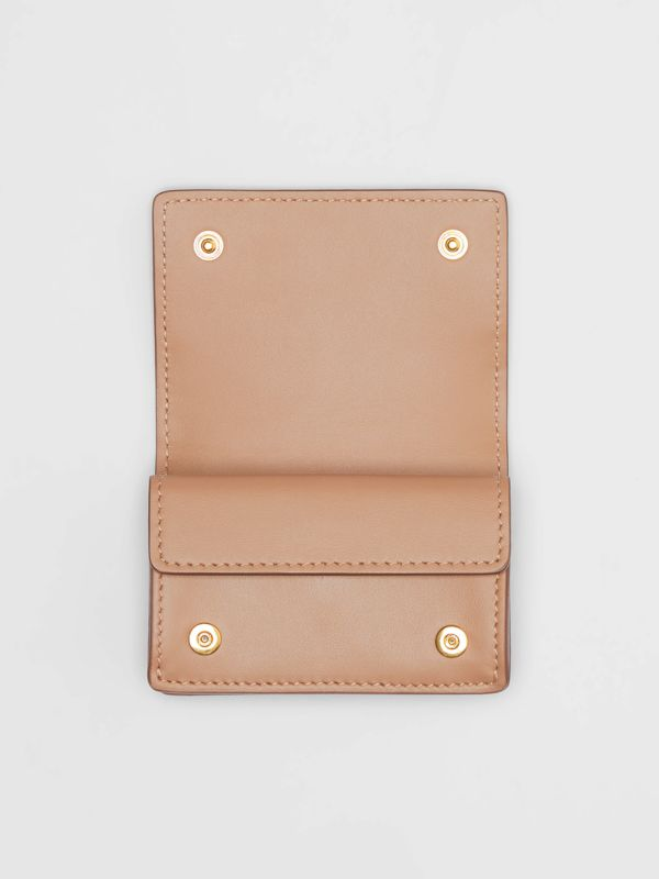 Monogram Leather Card Case in Light Camel - Women | Burberry - cell image 2