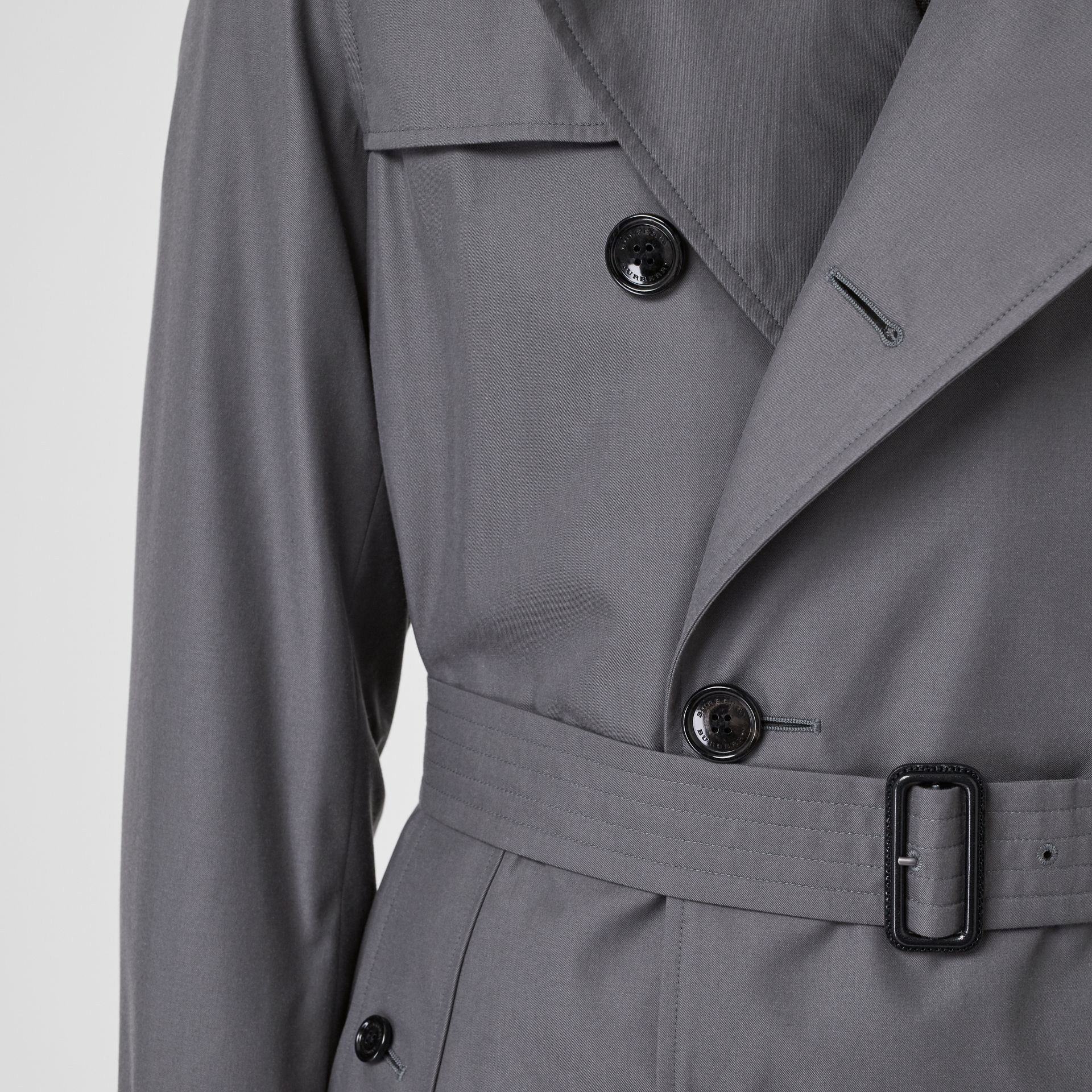 Trench Heritage The Chelsea (Gris Moyen) - Homme | Burberry Canada - photo de la galerie 6