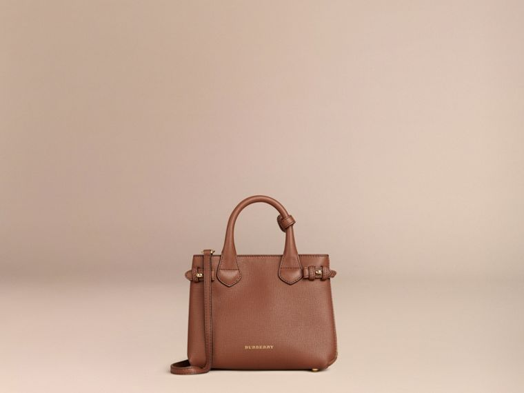 The Baby Banner in Leather and House Check in Tan - Women | Burberry - cell image 4